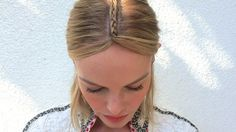 Try this tonight: Kate Bosworth's Grungy Chic Center Braid #Festival #Coachella #Hair