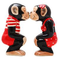 Kissing Chimps Salt and Pepper Set from Retro Planet