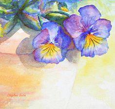 Pansy Shadows Watercolor Painting