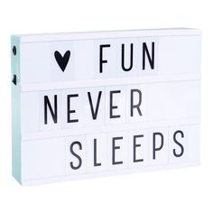 This must have lightbox is perfect for all of your daily quotes and messages! The lightbox from A Little Lovely is not only very decorative as a light but also a lot of fun to use. You can change your