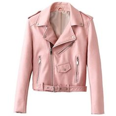 Into The Deep Leather jacket ($105) ❤ liked on Polyvore featuring outerwear, jackets, pink, pink jacket, pink leather jacket, red jacket, 100 leather jacket and leather jackets