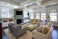 Chevy Chase Residence - Transitional - Family Room - dc metro - by Homegrown Decor, LLC
