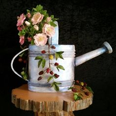 Country Living watering can cake
