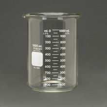 Pyrex® Glass Griffin Beaker, Low Form, Measuring, 1,000 mL