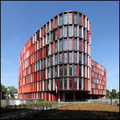 Colorful ovals Foundation for office buildings in Cologne by Sauerbruch Hutton