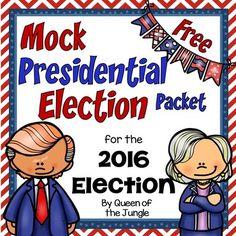 Presidential Election: Mock Election Freebie