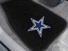 Dallas Cowboys 2-pc Embroidered Car Mat Set