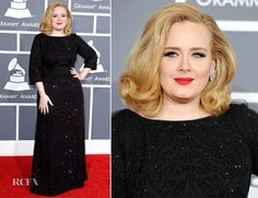 Adele: I still can't get over how beautiful she was. The hair color is so perfect, the dress, sophisticated. She has finally reached superstar celeb status. By far my favorite look.