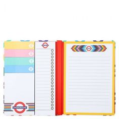 Mind The Gap A5 underground multi list book - All Desk Accessories - Desk Accessories - Stationery Essentials, Mind The Gap, Paperchase, Staying Organized, Sticky Notes, Stationery, Notebook, Mindfulness, Organization