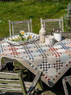 Summer-Kitchen-Selma-Bennett-quilt-patchwork-magazine-simply-vintage-31-June-July-August-2019 Picnic Blanket, Outdoor Blanket, Issue Magazine, Digital Prints, Summer Kitchen, Quilts, Vintage, Pattern, June