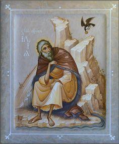 Prophet Elias by Oleg Shurkus Byzantine Icons, Byzantine Art, Religious Icons, Religious Art, Biblical Art, Soul Art, Art Icon, Orthodox Icons, Sacred Art