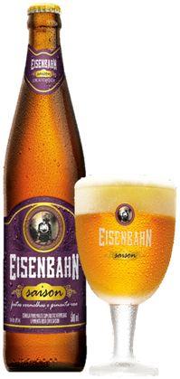 Cerveja Eisenbahn Saison, estilo Saison / Farmhouse, produzida por Cervejaria Sudbrack, Brasil. 4.8% ABV de álcool.