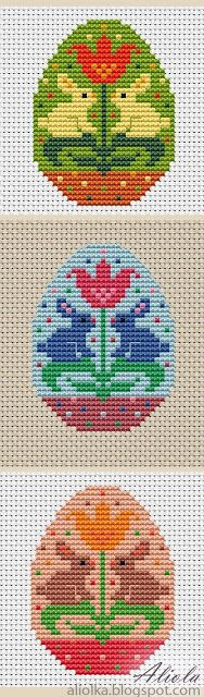 Cross stitch patterns - in a foreign language but still good photos