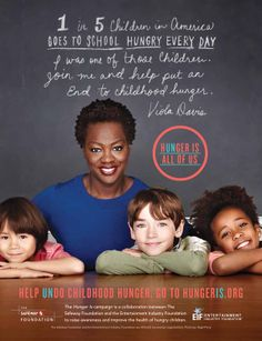 Actress Viola Davis Join forces with Safeway Foundation and The Entertaingment Industry Foundation to help end childhood Hunger