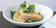 A delicious dinner recipe from our Total Wellbeing Diet program - Seared Tuna With Asian Greens And Soy
