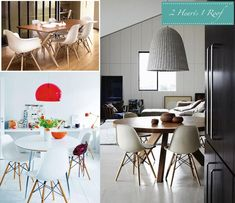 Dining Room Inspiration - Eames Chairs | Two Hearts One Roof