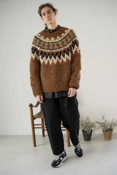 Mohair Sweater, Men Sweater, Business Casual Men, Student Fashion, Knitting Designs, Pullover, Lana, Christmas Sweaters, Knitwear