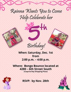 Awesome FREE Template 5 Year Old Birthday Invitation Wording Ideas