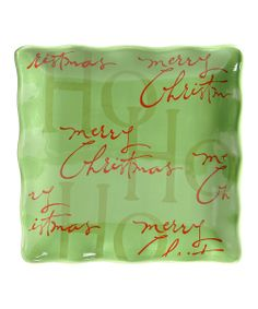'Merry Christmas' 13'' Square Platter | Daily deals for moms, babies and kids