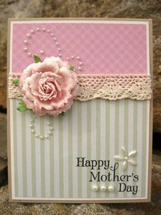 Inkee Paws: Shabby Chic Mother's Day Card, via inkeepaws.blogspot.com