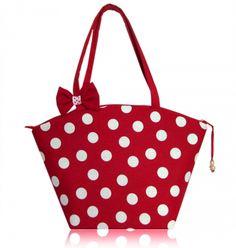 SIKK - Bordó-fehér pöttyös táska, Táska, Válltáska, oldaltáska, Meska