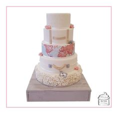 Image result for travel themed wedding cake