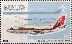 Malta Stamps 1984 Air Malta Planes SG 729 Fine Used Scott C15 Other European and British Commonwealth Stamps HERE!