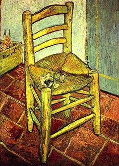Needlepoint canvas. Chair by Vincent Van Gogh needlepoint.