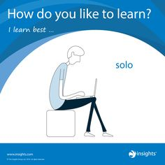 How do you like to learn? Cool Blue colour energy.