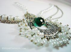 Royal Pearls Hijab Headpiece - exclusive to my shop handmade by myself - more hijab pins at www.hijabpinshop.com