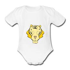 Le roi Léo le lion rugit sur le body de bébé The king Leo the lion roars on baby'sbodyshirt