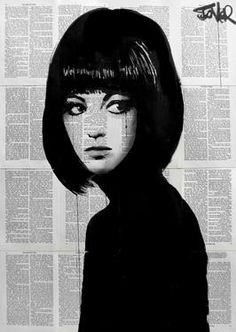 "Saatchi Art Artist Loui Jover; Drawing, ""the girl in black"" #art"
