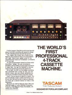 Reel to Reel Tape Recorder Manufacturers - TEAC corporation Cassette Recorder, Tape Recorder, Cassette Tape, Vintage Records, Vintage Ads, Recording Equipment, Studio Gear, Light Works, Hifi Audio