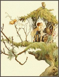vintage faeries | Lauren Mills and Dennis Nolan, Fairy Wings