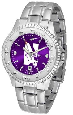 Northwestern University Men's Stainless Steel Dress Watch. Links Make Watch Adjustable. Stainless Steel. Men. AnoChrome Dial Enhances Team Logo And Overall Look. Officially Licensed Northwestern Wildcats Men's Stainless Steel Dress Watch.