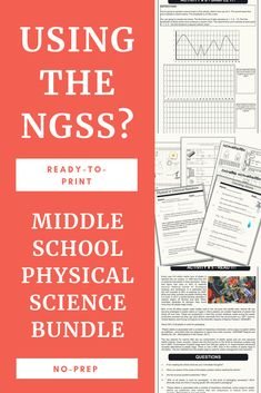 t is packed with resources specially designed to align with the NGSS curriculum and standards. Powerpoints notes INB pages labs and bellringers all compliment each other to save you time and make life a little easier. Science Curriculum, Science Resources, Science Classroom, Science Lessons, Homeschool Curriculum, Science Chemistry, Physical Science, Life Science, Ngss Middle School