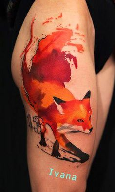 I love this tattoo ! Awesome job with the colors by Ivana Belakova. #tattoo #tattoos #ink
