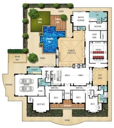 Single Storey Home Design Plan - The Farmhouse by Boyd Design Perth