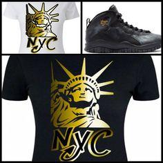 ab3b483dae4db4 Details about LADIES WOMEN GIRLS TEE SHIRT to match AIR JORDAN X 10 NYC!  LIBERTY NYC