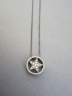 Hey, I found this really awesome Etsy listing at https://www.etsy.com/listing/107837087/star-necklace-gunmetal-star-necklace