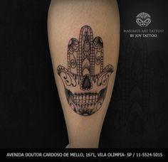 Feita Por Joy Tattoo Maximus Desenho Lopes M&227o De Hamsa Com