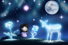Moon Illustration, Stars And Moon, Beautiful Children, Childrens Books, Day, Anime, Children's Books, Beautiful Kids, Children Books