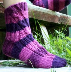 Knitted Slippers, One Color, Colour, Yarn Colors, Stockings, Knitting, Pattern, Color, Hosiery