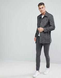Reiss | Reiss Dogtooth Wool Smart Coat