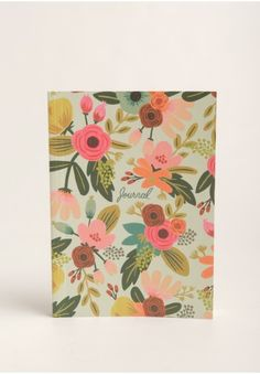 It's complete with 208 lined pages that are adorned with gold-toned accents at the top of the page for a cute look!