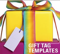 Gift Tag Templates For your cake decorating