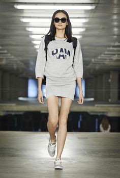 1ac062a6fe496 Cropped sweat   New Lynn slim dress G Star Raw, Printemps Été 2015, Mode