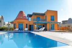 How cute is Esh Elghorab Villa in Egypt? It's the perfect base for a group or family holiday this year.