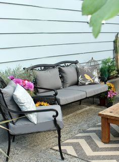 Learn How to Easily Recover your Outdoor Patio Cushions! | Hot Tub ...