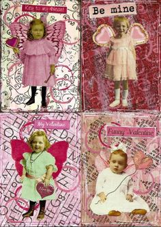 ATCs artist trading cards; available to swap by PaperScraps on flickr: altered art
